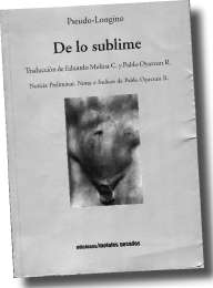 PSEUDO-LONGINO De lo sublime | 192 x 260 jpeg 5kB