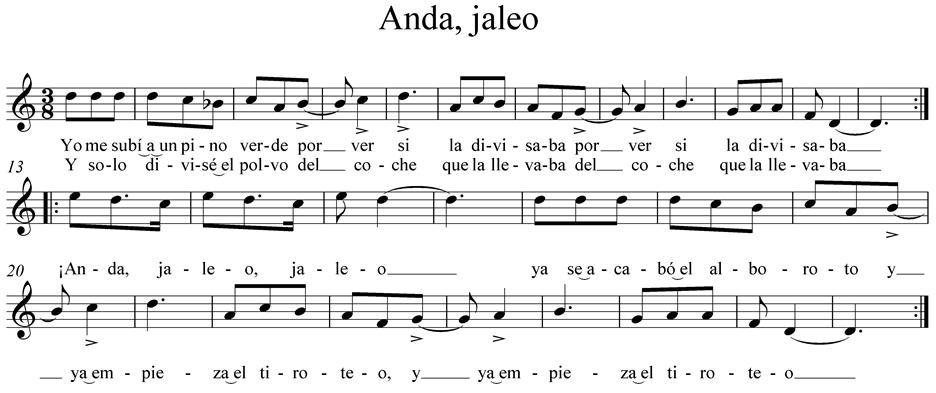 Resultado de imagen de partitura anda jaleo flauta