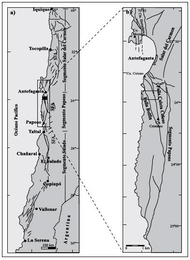 significado tect u00f3nico y migraci u00f3n de fluidos hidrotermales en una red de fallas y vetas de un