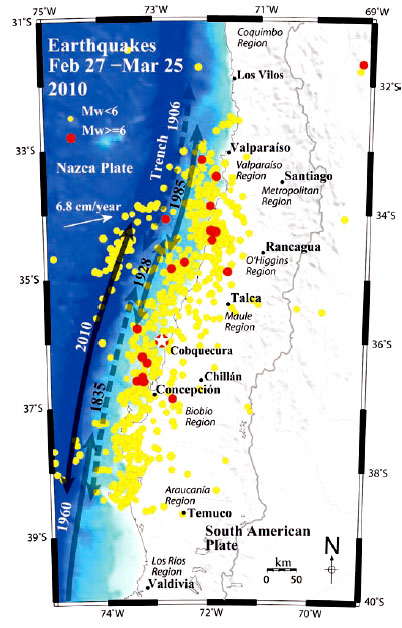 Great Chilean Earthquake Epicenter