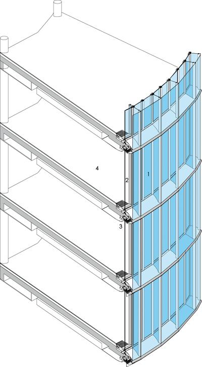 Fachadas transparentes sistemas activos y pasivos for Piso tecnico detalle