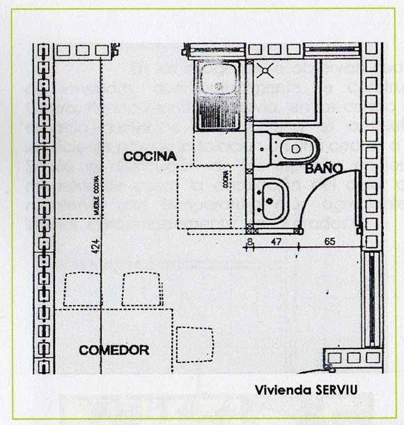 La cocina chilota el genuino lugar de encuentro de una for Cocina plano arquitectonico
