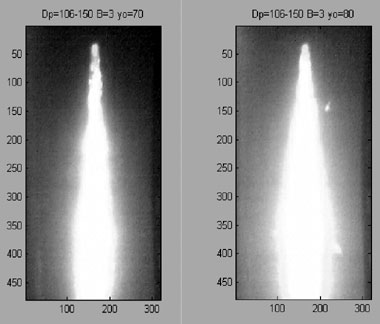 MEASUREMENT OF FLAME SPEED IN COPPER CONCENTRATE CLOUDS