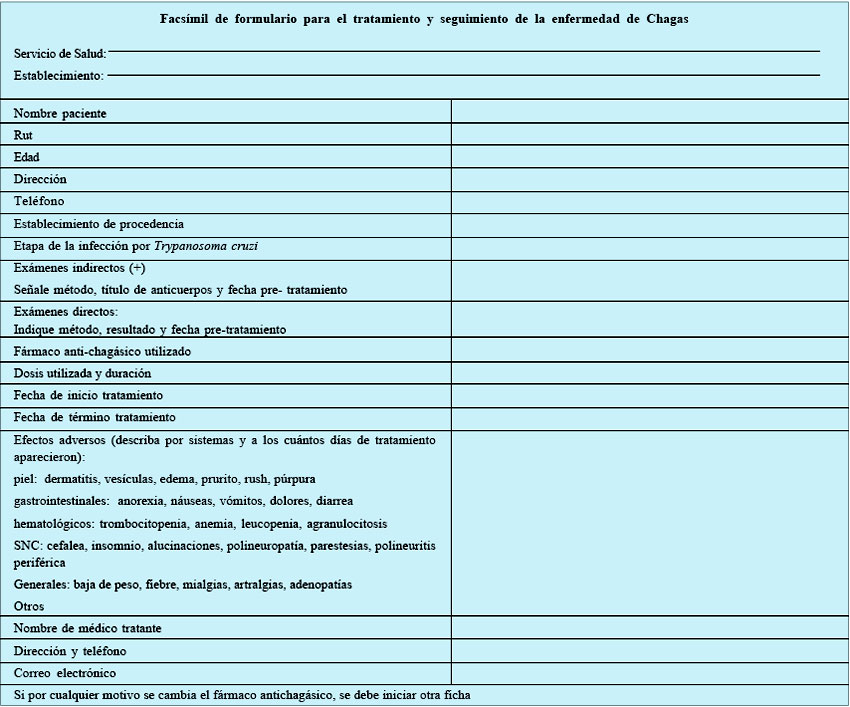 Revista chilena de infectolog�a - Guidelines for the Chagas ...