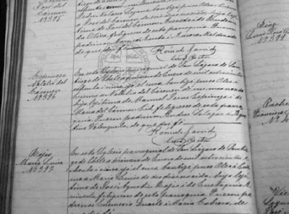 Partida De Matrimonio Catolico : Los inicios del registro civil de chile ruptura o