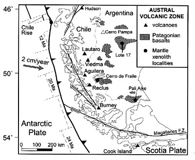 Active Andean Volcanism Its Geologic And Tectonic Setting - Argentina volcanoes map